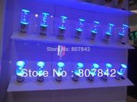 5pcs E27 3W RGB LED spotlight Remote Controlled LED Crystal Candle Bulb AC85-265V 24key IR controller led rgb spotlight