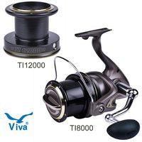 Free shipping, VIVA HARBOR TI8000/TI12000,  large long shot fishing Reel, 2pcs line cup, 14BB stainless steel bearing