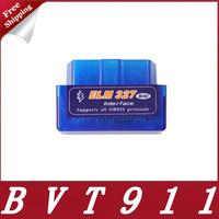 2015 Top-Rated New Mini ELM327 Interface V1.5 OBD2 II Bluetooth Car Auto Diagnostic Scanner Tool Mini ELM327 Free Shipping