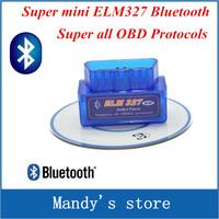 Super mini ELM 327,mini 327 bluetooth,elm327 works on Android Torque super Professtinal OBD II obd 2 Scanner tool ,free shipping