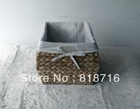 Straw storage box for gift ,Soft wheat straw Large dirty clothes basket storage basketFC002