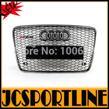 High quality ABS auto car mesh grille Q7 RSQ7 front grill for Audi Q7 bumper 2008-2012