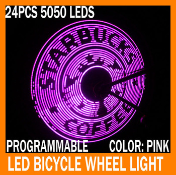 Free shipping USB Programmable LED Bike Wheel Display Light Bike LED Spoke Cycling Novelty Lights 6 colors