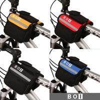 20Pcs Wholesale New Black Bike Bicycle Cycling Frame Pannier Pack Front Tube Bag Bicycle Accessories In Stock