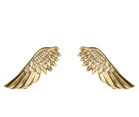 Free Shipping 2014 Newest Arrival Women Angle Wings Punk Gold Color Emo Collar Shirt Brooch Clip Pin Decoration M074