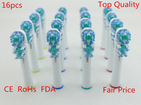 2014 Hot 16pcs  SB-417A electric neutral pack Dual clean B Replacement toothbrush heads for Oral 4 soft bristles