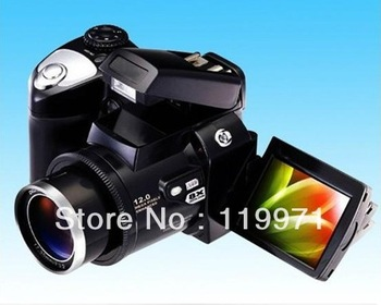"Free shipping HOT! DC black Color DC600 Digital Camera 2.4"" LTPS TFT LCD 270 Degree Rotation 8 X Digital Zoom PC"