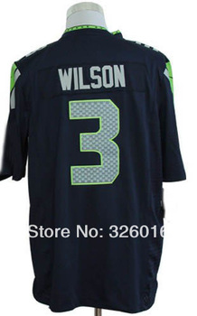 #3 Russell Wilson Jersey,Game Football Jersey,Sport Jersey,Best quality,Size S--3XL,Accept Mix Order