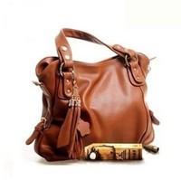 2013 women's handbag fashion brief oppo genuine leather cowhide tassel vintage one shoulder cross-body handbag female