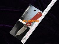 SANRENMU Mini GR5-605 Keychain Pocket Knife, 8Cr13MoV,57HRC,G10,Belt Clip+Free shipping(SKUJAV010843)