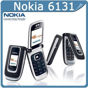 original Nokia 6131 Unlocked Original flip Cell Phones support russian keyboard russian menu One Year Warranty Free Shipping