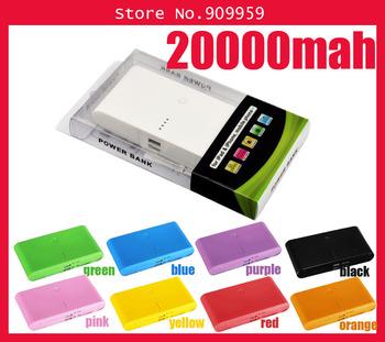 20000mAh power bank Portable Power charger external Backup Battery For Noki , Micro USB, Samung, Mini USB, iPd,iPhon