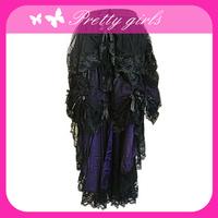 black sexy fashion women short dress lace skirt