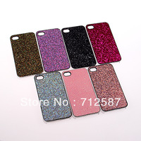 Free shipping 2 PCS Bling Rubber Hard Case Cover Guard for iPhone 4 4G #8224