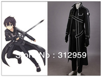 Wholesale&Retail Customized any size Sword Art Online kirito black cosplay anime costume