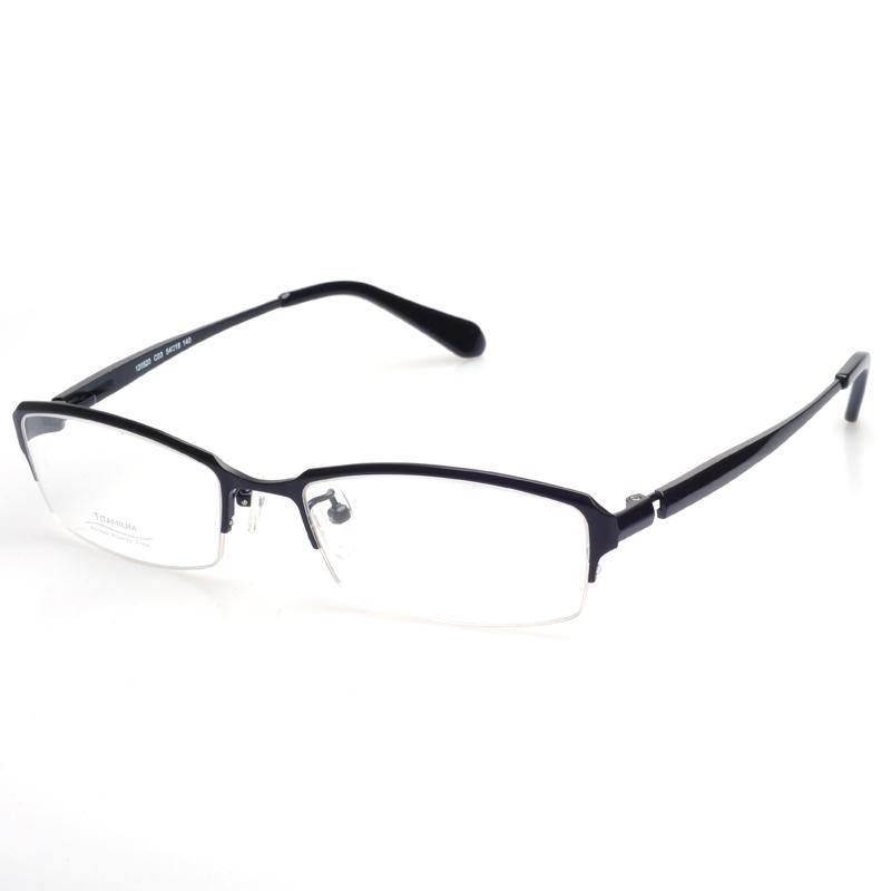 Titanium Half Rim Eyeglass Frames : Free-shipping-Pure-Titanium-glasses-eyeglass-half-rim ...