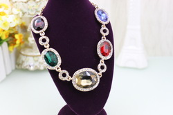free shipping fashion jewelry exaggerated statement multicolor bib necklace Mother's Day Gifts 002(China (Mainland))