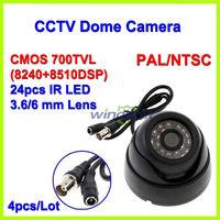 4PCS/Lot Surveillance 24 IR LED Color CMOS 700TVL 3.6mm IR Indoor Security Mini Dome CCTV Camera Free shipping Drop shipping