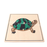 Montessori teaching aids animal puzzle tortoise puzzle b070 toys baby puzzle the educational toys