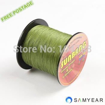 Free shipping  PE Braid Fishing Line 6 strands 30LB 40LB 50LB 60LB 70LB 80LB 90/100LB 300M