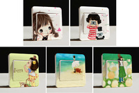 5Pcs/Set - Waterproof Creative Switch Stickers - Aesthetic Character Series Bedroom Wall Stickers Multicolour