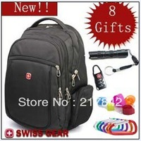 2013 new  Swiss gear laptop backpack bag notebook bag 14 15 male women's backpack s007