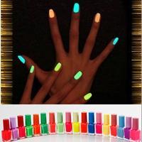 4X Fluorescent Luminous Neon Glow In Dark Varnish Nail Art Polish Enamel 20 Colors