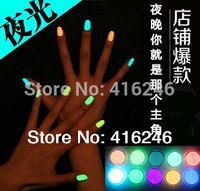 20colors Free Shipping Popular Luminous Nail Polish nail art / Fluorescent nail Enamel 10Pcs/Lot