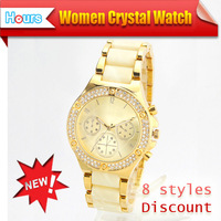 2013 Wholesale Famous Brand High Quality Fashion Wrist Watch With Quartz Movement Free  shipping Plenty of Color Option