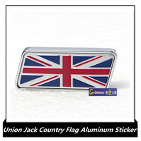 Union Jack Country flags emblem 3d aluminum alloy car stickers, Germany France Italy and M M-Power badge adhesive