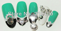New Arrival 2bags/lot  Acrylic Nail pre Design Tips Designed Nail Tips 24pcs/bag/box free shipping