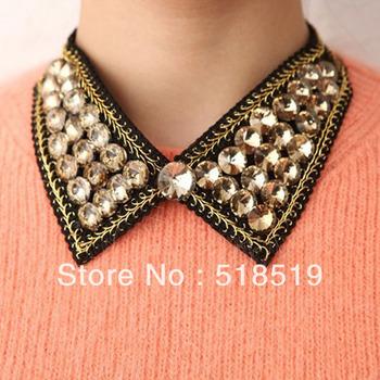 10PCS/LOT!!!Free Shipping!SM307!Wholesale Big Stones Moon Stone Full Drill Fake Collar Short Necklace Fashion JEWELRY