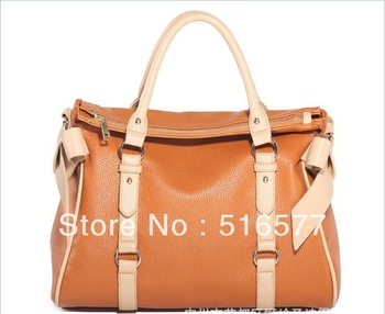 2013 Free shipping New Europe Fashion Genuine Leather Designer Satchel Handbags for Women Tote Bags  High Quality Lady Purse