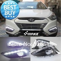 2010-2012 HYUNDAI IX35 LED DRL Daytime Running Light Lamp Germany OSRAM Chips top quality for fast Free Shipping