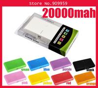 20000mAh power bank Portable Power charger external Backup Battery For Noki ,Micro USB,Samsun,Mini USB,iPd,iPhon
