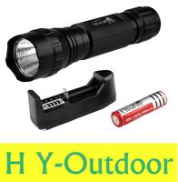 UltraFire WF-501B 1300 Lumens CREE XM-L u2 LED 501B Flashlight Torch + 1* 18650 4000 mah Battery + Charger