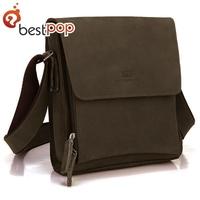100% Genuine Leather 2013 crazy horse  nubuck  vintage handbags shoulder messenger bag for men,free hipping
