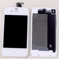 Wholesale-High quality free shipping Replacement LCD Touch Screen Digitizer Assembly For iPhone 4G GSM White