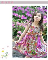 girls ruffled floral print dress kids dresses girls fashion children clothing