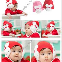 New Baby hat Children Toddler infant hat Boys Girls Winter Ear Flap Warm Hat Beanie Crohet Rabbit hat B5440