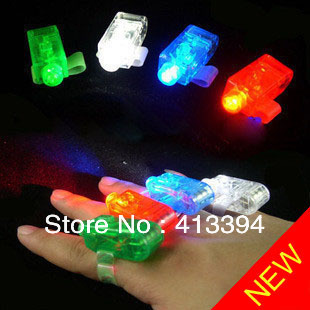 90pcs/lot Free shipping LED Finger Light,Laser Finger,Beams Ring Torch For Party,wedding celebration mix color simple package(China (Mainland))