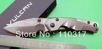 Folding utility knife F0277,drop point, satin 440C blade, knife lanyard hole& pocket clip,free shipping