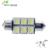 free shipping special offer 10pcs White Car Festoon Dome Light Lamp Bulb 12V 36mm 5050 SMD 6 LED