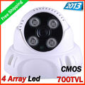 Big promotion !2013security cctv CMOS 700TVL IR color dome camera,  4pcs  Array IR LED IR 30m