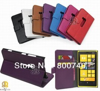 free shipping  PU Leather Cover Case for Nokia lumia 920