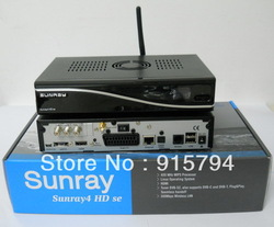 Satellite Receiver Sunray 4 SR4 wifi 300mbps WLAN DVB-S DVB-C DVB-T 3 in 1(China (Mainland))