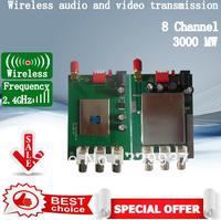 2.4G 3w wireless module audio video monitoring equipment Wireless AV TV Audio Video Sender wireless transceiver 2km