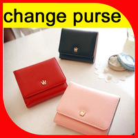Korean style crown coin purse for girl with removable cute change pocket