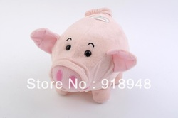 Free shipping for 1 piece walking piggy bank cute funny coin bank pig sound and shake nose when drop a coin best gift for kid(China (Mainland))