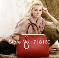 2014 New Fashion High Quality leather designer women handbags ladies red totes shoulder bag messenger bags,Free shipping